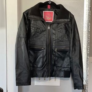 Collection B Moto Jacket Vegan Leather
